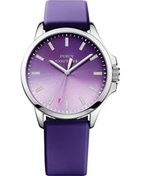 Juicy Couture Womens Jetsetter Purple Silicone Strap Watch 38mm - Lyst