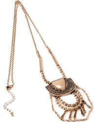 Forever 21 - Etched Pendant Necklace You've Been Added To The Waitlist - Lyst