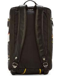Givenchy Black Basketball Print Convertible Duffle Backpack