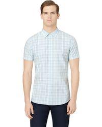Calvin Klein Plaid Woven Sport Shirt - Lyst