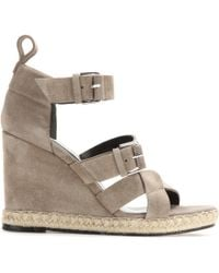 Balenciaga Rope Track Suede Wedge Sandals - Lyst