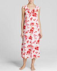 Oscar de la Renta Amourette Bouquet Long Gown - Lyst