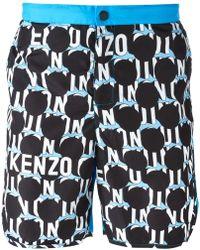 Kenzo Dots and Logo Swim Shorts - Lyst