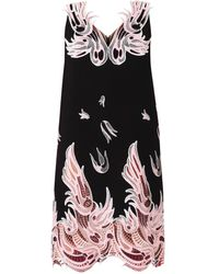 Christopher Kane Lacetrimmed Crepe Dress - Lyst