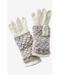 Express Ivory 2-in-1 Layered Gloves - Metallic