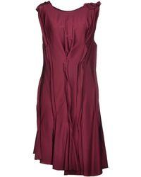 Lanvin Purple Knee-length Dress - Lyst