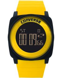 Converse - Unisex Digital Full Court Yellow Silicone Strap 45mm Vr034905 - Lyst