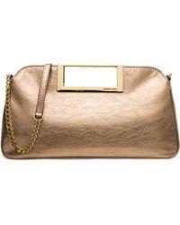 MICHAEL Michael Kors | Berkley Large Metallic Clutch Bag | Lyst