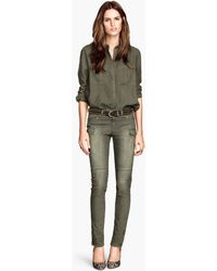 H&M Super Stretch Trousers - Lyst