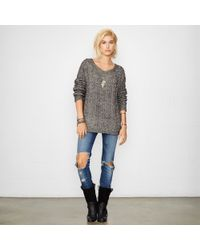 Denim & Supply Ralph Lauren Cable-Knit Boatneck Sweater - Lyst