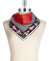 Lauren by Ralph Lauren Renee Nautical Square Scarf - Lyst