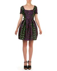 Christopher Kane Neon Leopard-Print Jacquard Dress - Lyst