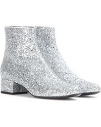 Saint Laurent Babies Glitter Ankle Boots - Lyst