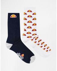 Ellesse - 2 Pack Socks - Lyst