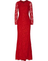 Needle & Thread Crystal-embellished Lace Gown - Lyst