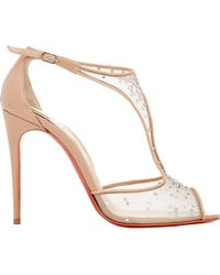 Christian Louboutin Embellished Patinana Sandals - Lyst