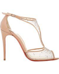 Christian Louboutin Embellished Patinana Sandals - Lyst