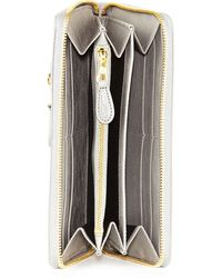Balenciaga Giant Golden Continental Zip Wallet Gris Pyrite - Lyst
