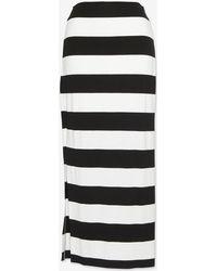 Nadia Tarr Exclusive Striped Maxi Skirt - Black