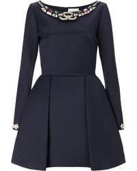 Mary Katrantzou Copelia Dress Embellished Navy - Lyst