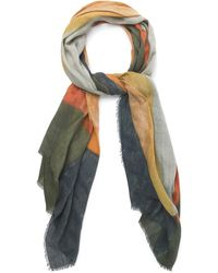 Jaeger Elongated Abstract Shape Scarf - Lyst