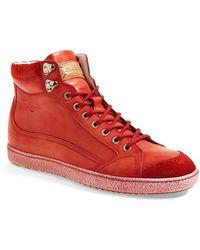 Santoni 'Sabre' High Top Sneaker - Lyst