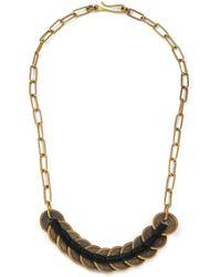 Lulu Frost Gf X Michael Bastianlong Woven Coin Necklace - Lyst