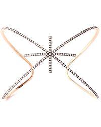 Diane Kordas Diamond & Rose-Gold Starburst Cuff - Pink