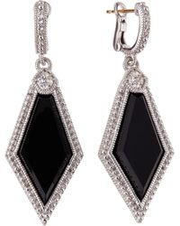 Judith Ripka - Modern Deco Pentagonal Onyx Earrings - Lyst