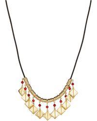 Lauren by Ralph Lauren Textured Squares Necklace - Lyst