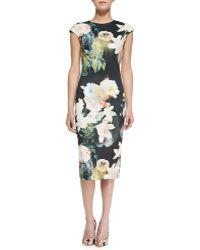 Ted Baker Opulent Bloom Floralprint Midi Dress Multi 0 - Lyst