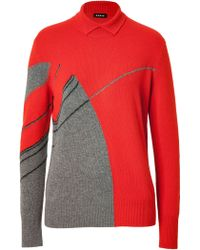 Akris Cashmere Intarsia Knit Pullover - Lyst
