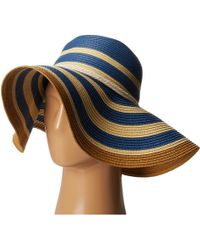 Vince Camuto Striped Floppy With Rope Band - Lyst