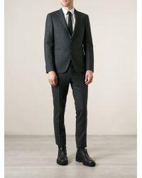 Tagliatore Check Print Slim Fit Suit - Lyst