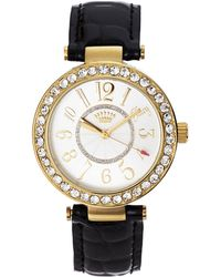 Juicy Couture 1901193 Gold-Tone & Black Watch - Lyst