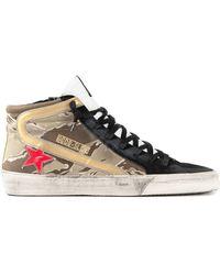 Golden Goose Deluxe Brand Slide Camouflage High-Top Sneakers - Lyst