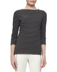 Gucci Striped Cotton Shirt With Leather Trim - Lyst