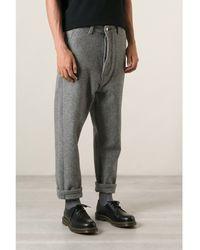Ami Alexandre Mattiussi Grey Wool Trousers - Lyst