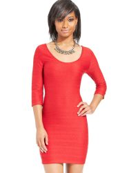 Material Girl Textured Bodycon Dress - Lyst