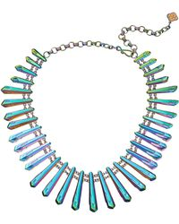 Kendra Scott Blue Jill Necklace - Lyst