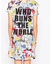 ELEVEN PARIS Exclusive To Asos T-shirt Dress In Disney Princess Print With Slogan Back - Multicolor