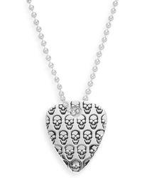Jan Leslie - Skull Guitar Pick Pendant Necklace/silvertone - Lyst