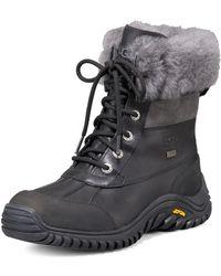 Ugg Ugg Adirondack Leather Shearling Boot Ii Blackgrey 350b50b - Lyst