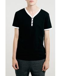 Topman Slim Fit Baseball Henley T-Shirt multicolor - Lyst