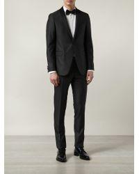 Sand Two-piece Textured Tuxedo - Gray