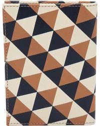 Clare V. - Passport Sleeve - Camel/navy And Cream Diamond - Lyst