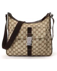 Gucci Beige Gg Crossbody Bag - Lyst