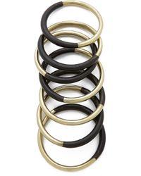 Antik Batik - Wooky Bracelet Set - Black - Lyst