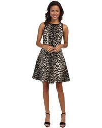 Karen Kane Cheetah Scuba Dress - Lyst