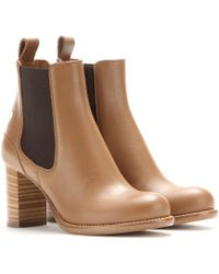 Chloé Bernie Leather Ankle Boots - Lyst